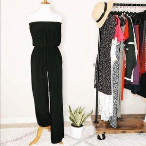 Pants - Unbranded Strapless Black Jumpsuit